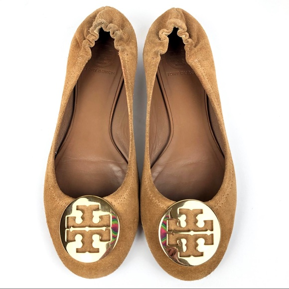 418f1682b TORY BURCH REVA Ballet Flats Brown Suede Size 8.5.  M_5c35a397c9bf5049483cf7e3